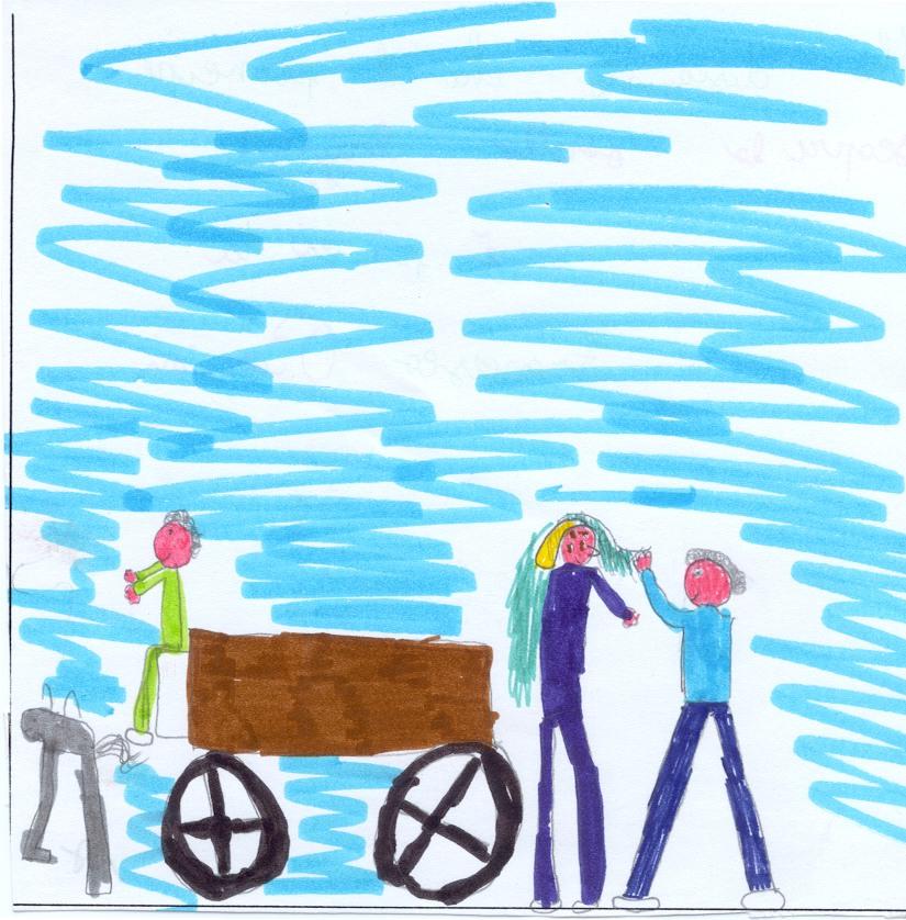 Francesca: Ho disegnato che il principe                       scopre la sorella brutta. Mi è piaciuta