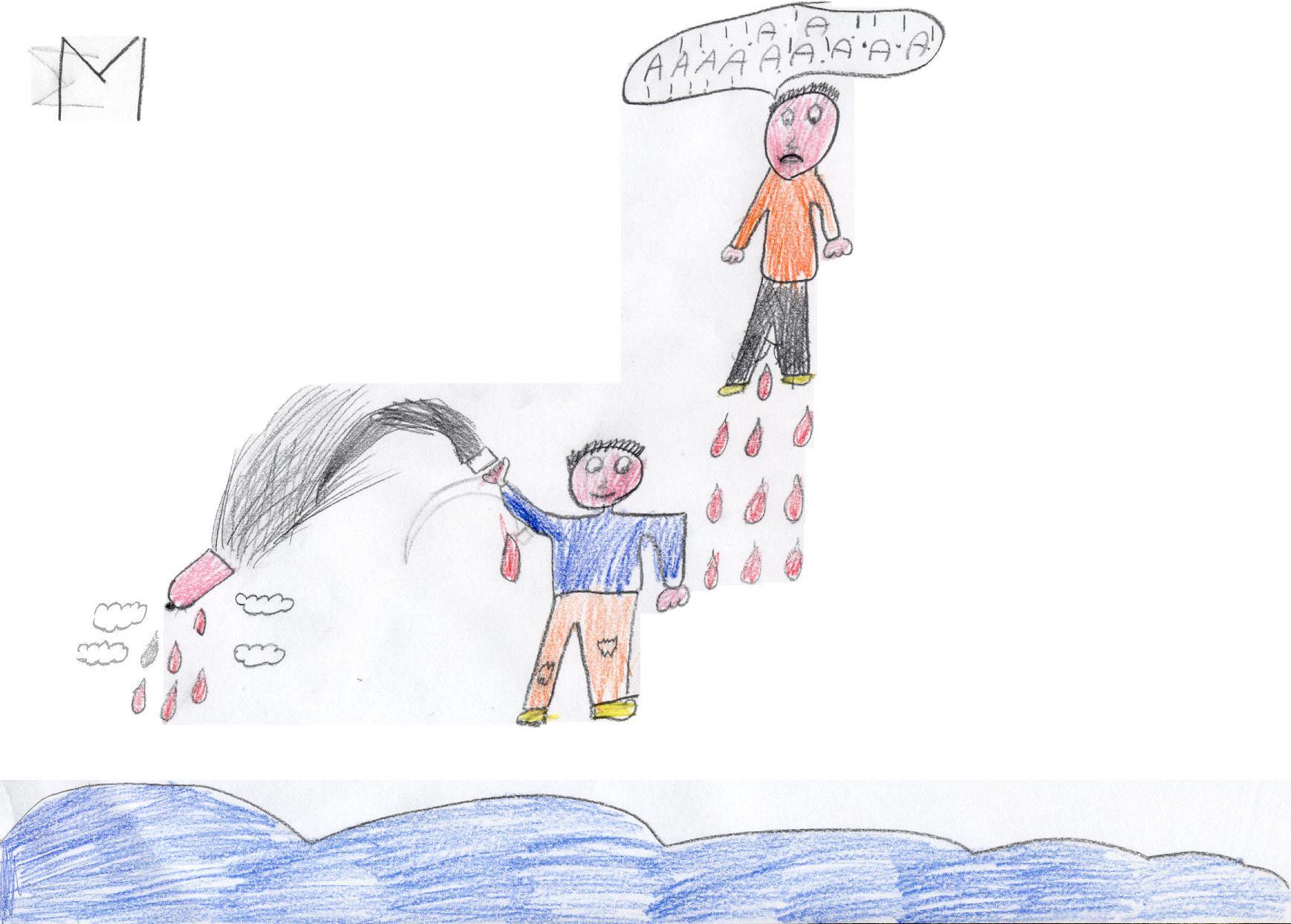 Alunno di IV: Tempo evira Cielo e getta nel mare il fallo           paterno, le cui gocce cadono sulla madre Terra