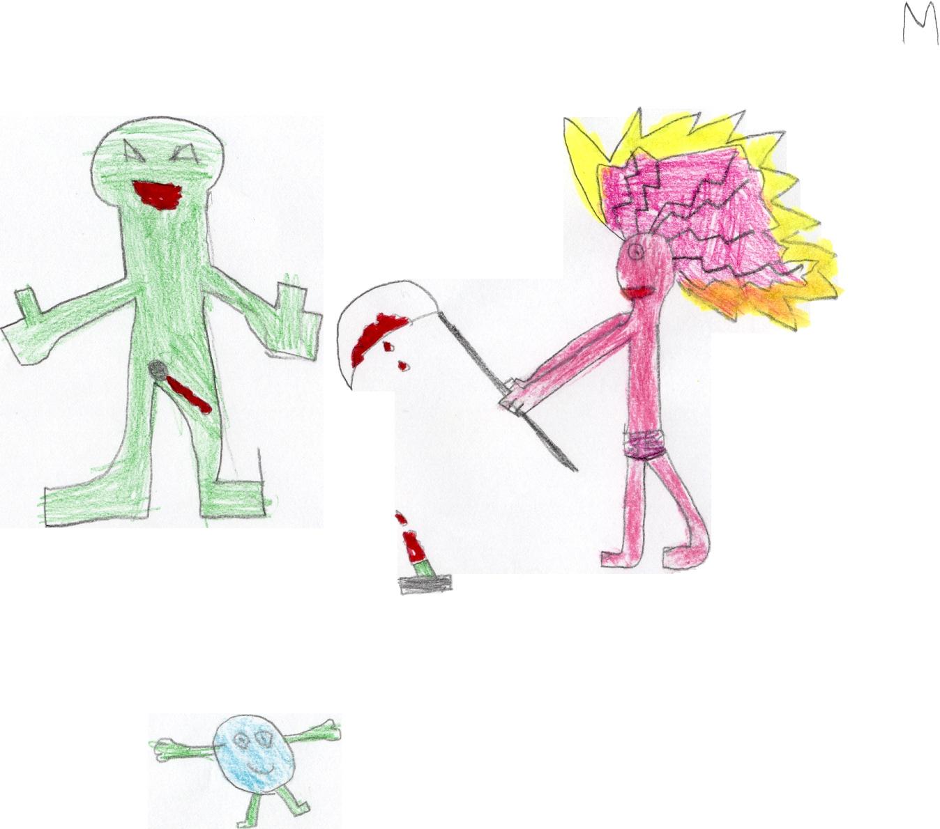 Alunno di IV: Tempo con i capelli e tutto il corpo           infiammato di ira feroce, evirato il padre, verde e primitivo