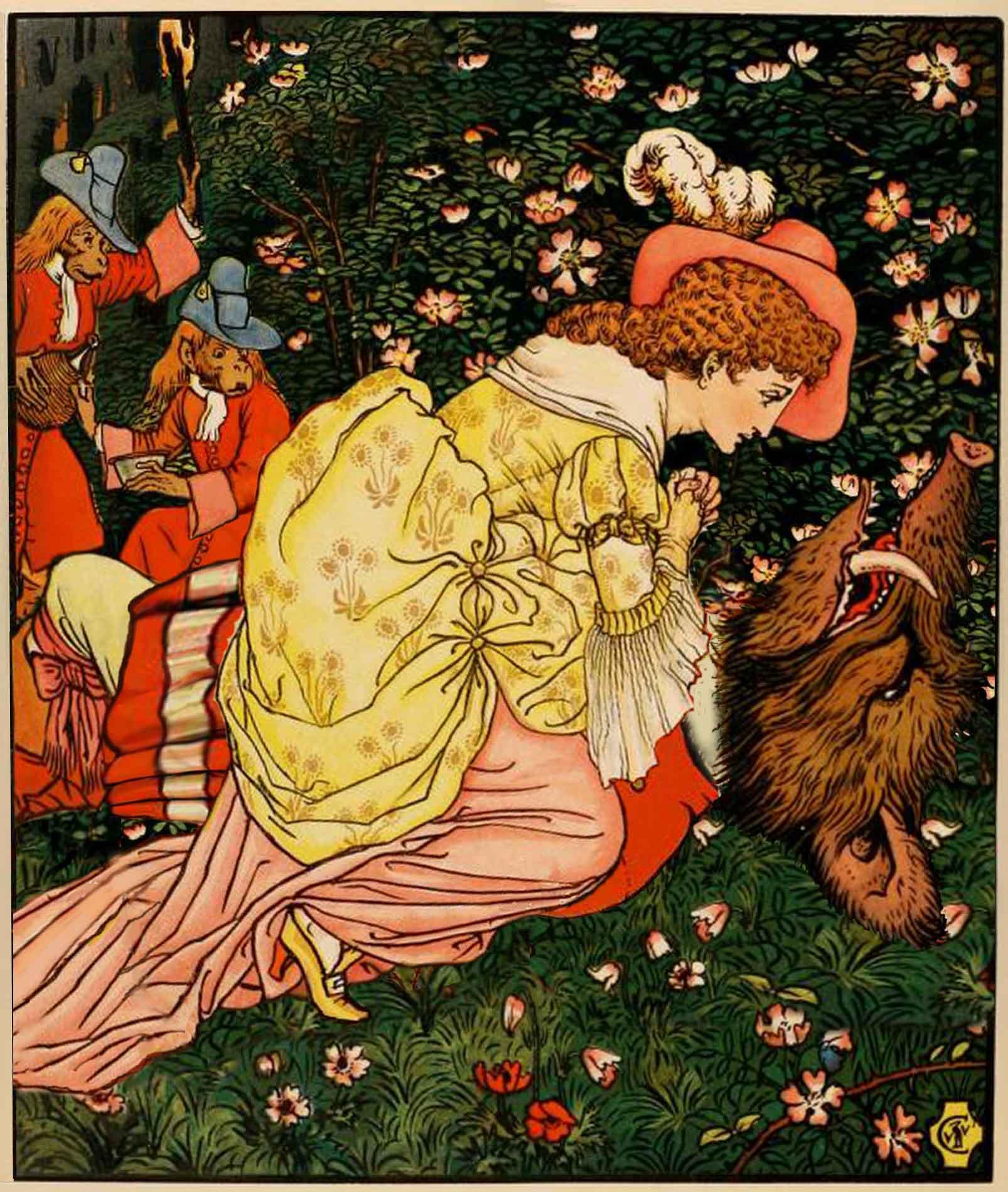 Walter Crane, La Bella e la Bestia