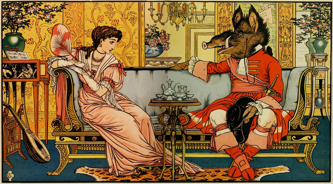 """Walter Crane """"Beauty and the                               Beast"""""""