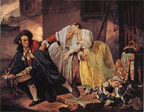 """Jean-Baptiste Greuze,                     """"Le Manège napolitain"""" 1757"""