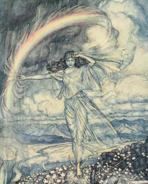 Arthur Rackham             ,Iris